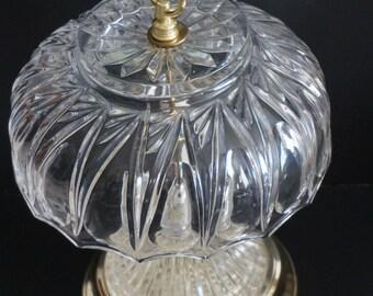 Vintage, Bedside Crystal Lamp