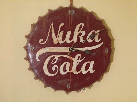 Fallout 4 Inspired Nuka Cola Bottle Cap Wall Clock With