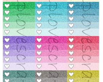 12 Glitter Ombre checklist for ECLP Horizontal Layout