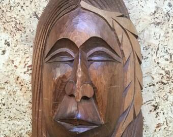 Native Pacific Northwest Coast Salish Chief Carving Mask