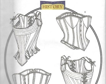 Butterick B4254 Corset Sewing Pattern, Costume, Renaissance etc.