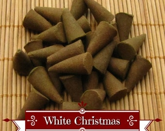 White Christmas Incense Cones - Hand Dipped Incense Cones
