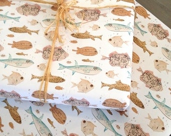 Best Fishes Wrapping Paper / Gift Wrap