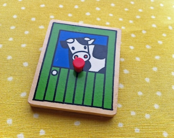 Wooden Farm House brooch or badge // Made in Rotterdam