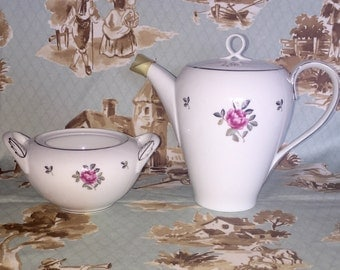 "SALE Vintage Fukawaga Teapot and Sugar bowl duo ""Arita"" pattern"