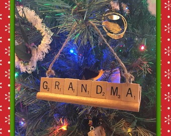 Grandparent Ornament,  Personalize, up to 9 letters, Personalized Christmas Ornament, Grandma ornament, Grandpa ornament, Grandkids Ornament