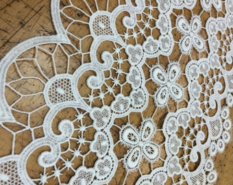 Cotton Venice Lace, Floral Guipure Lace fabric, elegant Flower Embroidery, Chemical Lace Fabric,