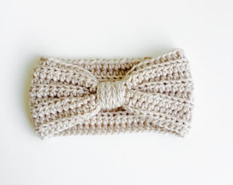Crocheted Baby/Kid/Adult Turband (Linen)