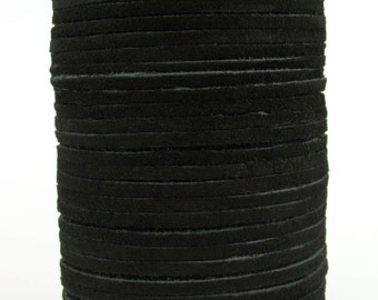Black Suede Leather Cord 3mm 10 Feet