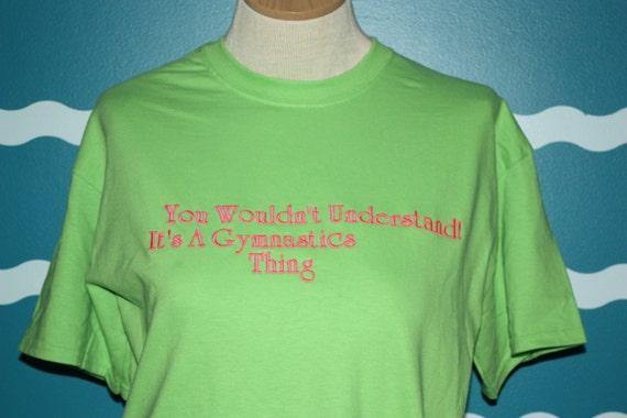 Embroidered Gymnastics shirt- custom gymnastics t-shirt - Custom embroidered t-Shirt - Gymnastics tee - embroidered t-shirt - gymnast gift