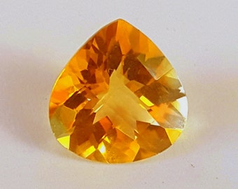 Imperial Yellow Citrine Gemstone - Pear Cut - 6.0Cts  - Golden Yellow - Excellent Clarity + Brilliance - November & Cancer Birthstone
