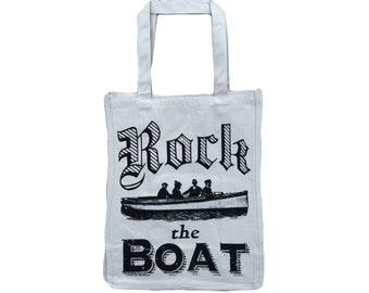 Rock the Boat: Jumbo Size Heavy Canvas Shopper Tote Bag