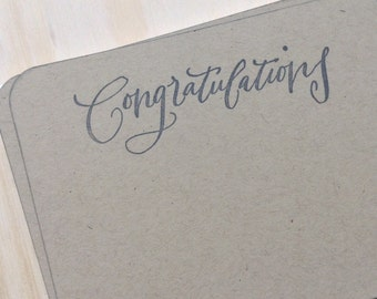 congratulations note cards, vintage inspired, flat note cards/envelopes, congratulations stationery set