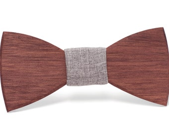 """Wood Bow tie- """"Victor"""""""