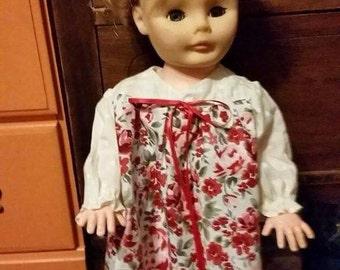 Custom made nightgown for Jill 1974 doll