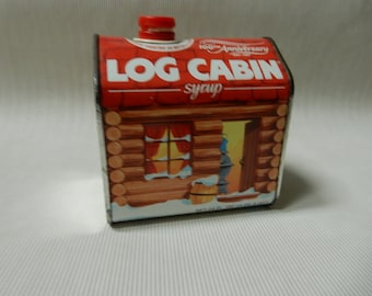 Log Cabin Syrup Can