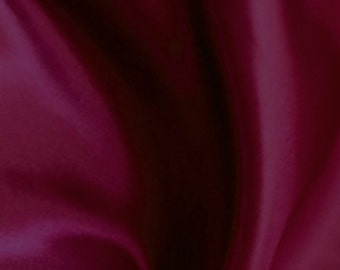 Burgundy Satin Fabric
