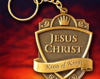 KEY CHAIN - Jesus Christ - Accessory- Antique Gold Hand-Rubbed Finish