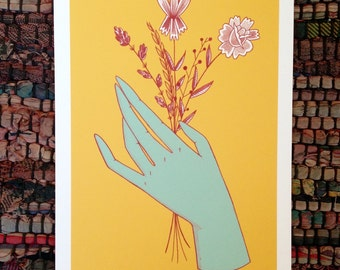 A5 Hand Print