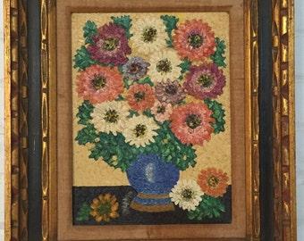 Folk Art Floral Painting Outsider Art