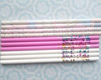 Lot 10 Vintage 1980s Pencils