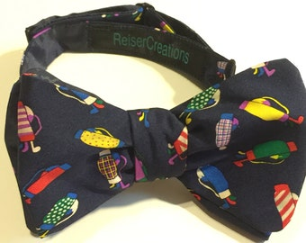 Bow Tie with Colorful Golf Bags