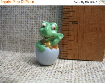 SALE EGG BABIES Baby Turtle Hatchling Hand Painted Porcelain  - French Feve Feves Figurines Miniatures Y18