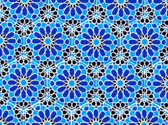 Blauwe en witte tegels Marokkaanse tegels door BarchilonCeramics