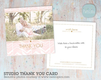 Thank You Card for Photography Business - Photoshop template - AB004 - Instant Download