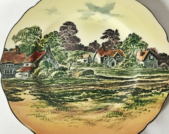 Rare Royal Doulton Rural English Countryside Rack Plates, Set of 2