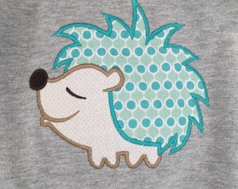 Boys AdorableLong Sleeve Hedgehog Applique Shirt