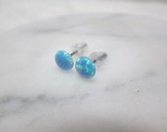 Blue Opal earrings, 1 pair stud