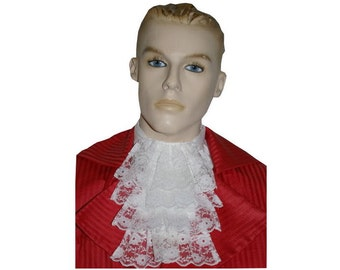 MensVictorian, Georgian, Regency, Edwardian lace Jabot, cravat