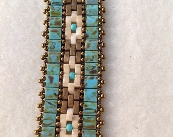 Turquoise Beaded Band Bracelet