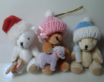 Custom Teddy Bear Ornament / Ships Free to the Continental United States