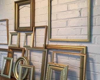 modern , gold frame Wall gallery frames,  picture frames wall gallery