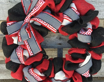 Alabama Wreath, University of Alabama Wreath, College Wreath, Collegiate Wreath, Alabama Burlap Wreath