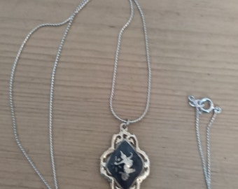 Vintage Siamese Silver pendant and chain