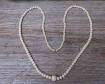 Vintage bone bead necklace