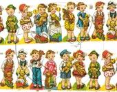Kitschy Kids Garland, Vintage Kids Garland, Cute Kids Garland