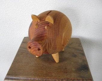 Danish Style Wood Piggy Bank