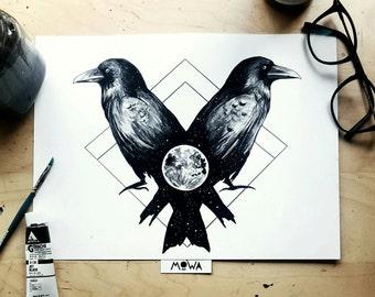 Raven Brothers - Art Print