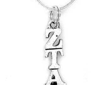 Zeta Tau Alpha Sorority Lavalier with Chain