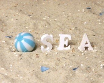 Maritime Miniature Wooden Letters for Your Dollhouse