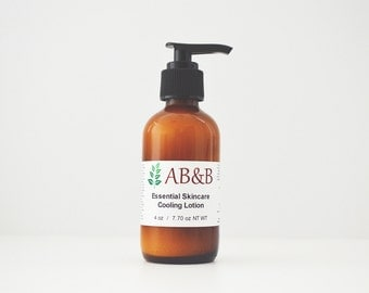 Cooling Lotion, Essential Skincare, Body Lotion, Peppermint Lotion, Aromatherapy Lotion, Organic Lotion, Dry Skin Care, Winter Moisturizer