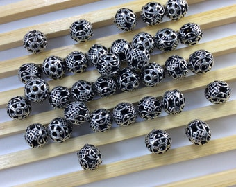 20 pcs x 8 mm Tibetan beads for making jewelry  make your own jewelry. (C620)