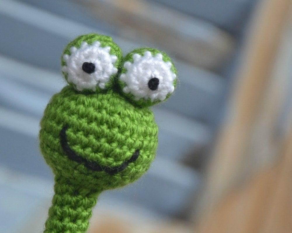 Pencil topper amigurumi frog crochet animal head pencil cozy