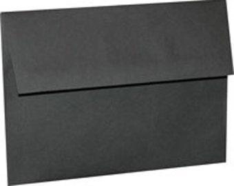 25 Black A-7 5X7 Envelope 5-1/4 x 7-1/4 Envelope