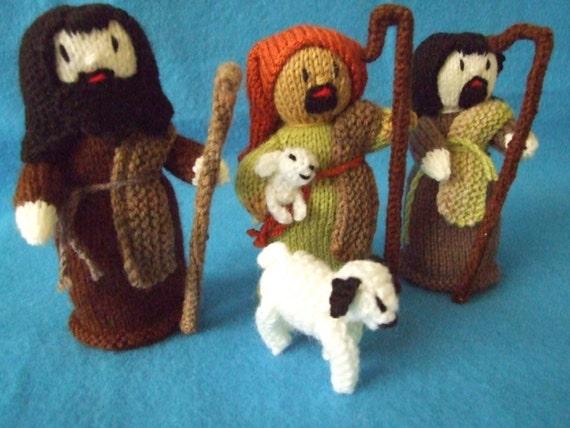 Knitted nativity scene pdf pattern from KnittedBySteph on Etsy Studio
