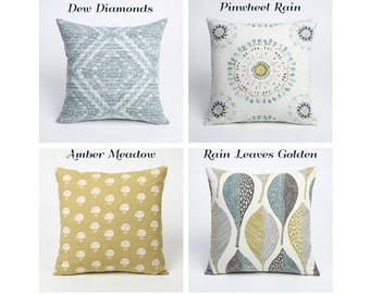 11 Sizes Available: Mix and Match Batik Collection Decorative Throw Zipper Pillow  Cover 18x18 20x20 24x24 26x26 Accent Hand